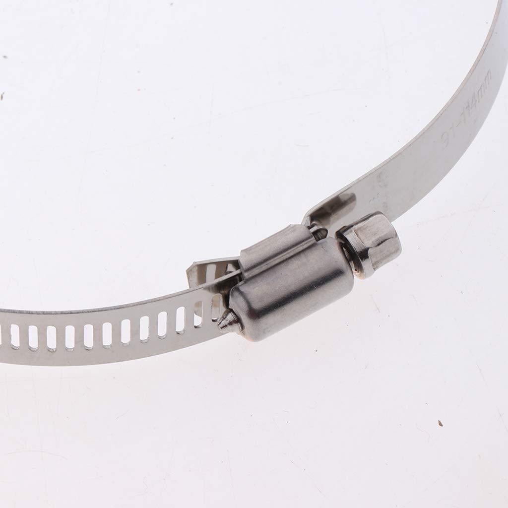 perfk Protezione Tubo Di Scarico Scudo Termico Lega Di Alluminio Motocicletta Argento