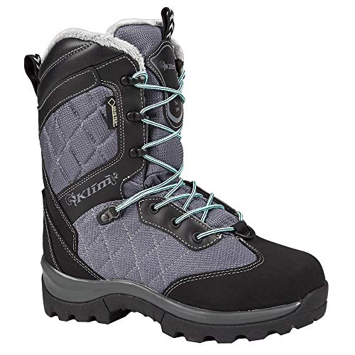 (Klim Aurora GTX Women's Snocross Snowmobile Boots Boots - Gray/Black Size 7)