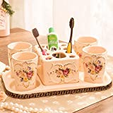 Continental toothbrush holder Creative cups Brush cup Toothbrush cup Toothpaste holder-B
