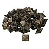 BQLZR 30x30mm Bronze Antique Square Upholstery Nails Tack Pyramid Studs Vintage Furniture Pack of 50