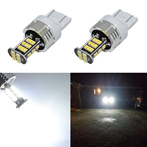 Alla Lighting Super Bright 7440 7443 LED Lights Bulbs 2000 Lumens 12V LED 7440 W21W 7443 Bulb 3020 30-SMD 6000K Xenon White 7440 7443 LED Bulbs Cars Trucks SUVs Back-up Reverse Light Bulbs Replacement