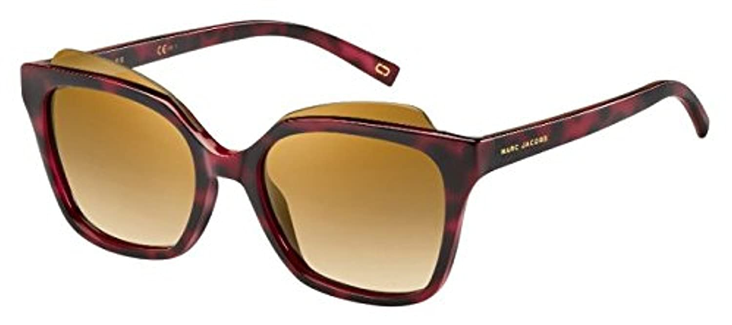 Marc Jacobs Women's Marc 106/S 7B N8S 54 Sunglasses, (Red Havana/Brown Ss BRZ) MARC106S