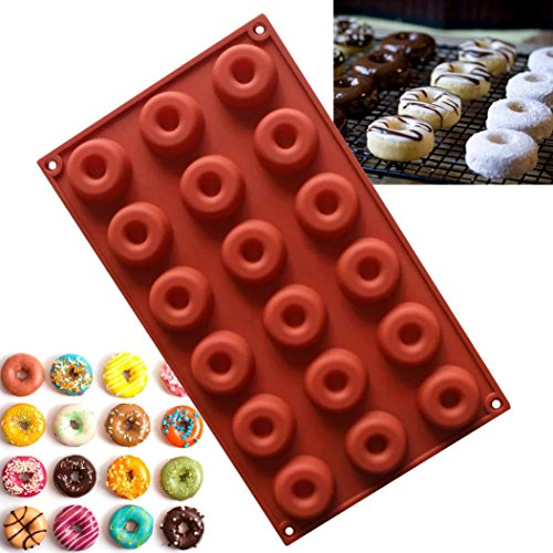 Kemilove 18 Holes Cavity Donut Doughnut Baking Mold Cake Chocolate Cookie Candy Mould (29 Halloween Cakes)