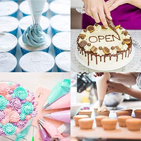 Dekoration Kekse Cupcakes erh/ältlich in drei Gr/ö/ßen: S M Kunststoff Geb/äckbeutel Dessert SOHAPY Einweg-Spritzbeutel f/ür Kuchen Spritzbeutel 100 St/ück S L