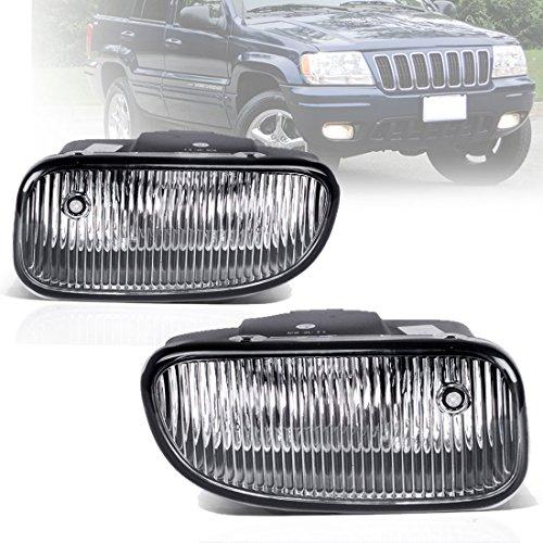 Fog Lights For Jeep Grand Cherokee 1999 2000 2001 2002 2003 (OE Style Clear Lens w/H12 12V 53W Bulbs)