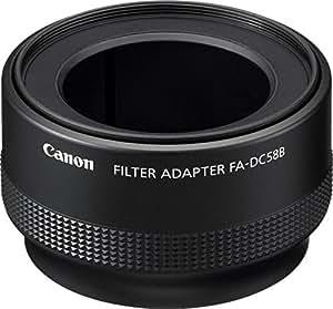 Canon FA-DC58B - Adaptador para objetivos de cámaras Canon PowerShot G10, G11, G12, negro