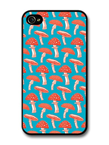 New Trippy Blue and Red Mushroom Toadstool Collage case for iPhone 4 4S