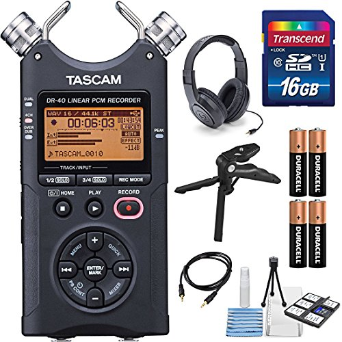 tascam-dr-40-4-track-handheld-digital-audio-recorder-with-deluxe-accessory-bundle-and-cleaning-kit