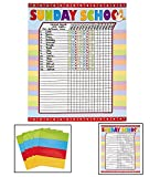 Sunday School Attendance Sticker Charts (Includes six 17'' x 22'' charts)