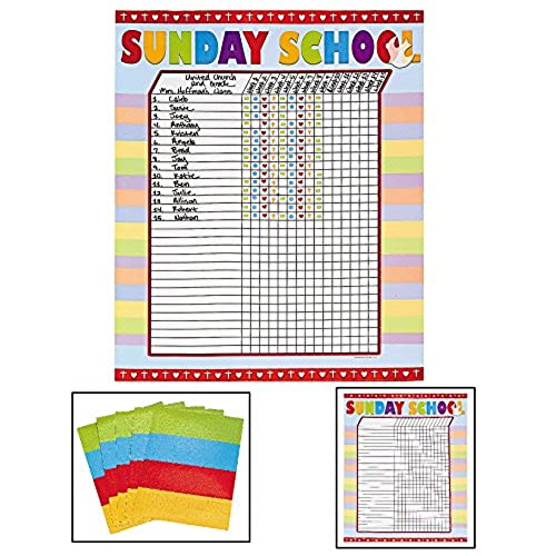 attendance chart for classroom amazon com