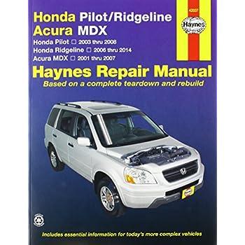 amazon com acura mdx honda pilot ridgeline haynes manual 2001 rh amazon com honda pilot 2006 repair manual honda pilot 2006 repair manual