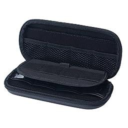 niceEshop(TM) Big Capacity USB Flash Drive Bag, Digital Gadget Case, Black