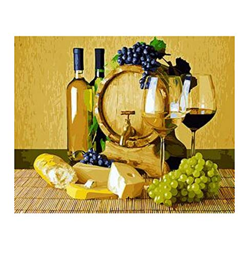 - Jigsaw Puzzle 1000 Piece Bread Grapes and Wine Still Life Wallfor Living Room Home Decor Classic Puzzle 3D Puzzle Wooden Toy Gift