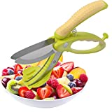 salad chopper scissors - Salad Scissors Stainless Steel, Multipurpose Kitchen Shear, Fruit Vegetable Meat Cutter Chopper