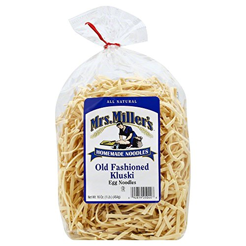Mrs Millers Homemade Old Fashioned Kluski Egg Noodle, 16 Ounce - 6 per case. by Mrs. Millers Homemade Noodles