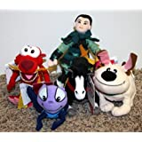 Rare Disney Mulan Complete Set of 5 Bean Bag Plush Dolls Including Mulan Khan Horse, Mulan Mushu Dragon, Mulan Cricket, Mulan Warrior, and Mulan Little Brother Dog Mint with Tags