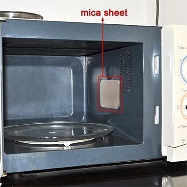 Myhonour - Disco de brillo para microondas, aislante, tapa hueca ...