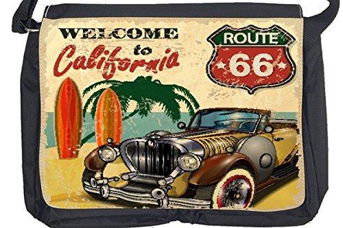 Borsa Tracolla Avventuriero route 66 di California Stampato