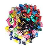 "Allure Maek 200 PCS (20 Assorted Colors) 3/8"" Contoured Side Release Plastic Buckles"