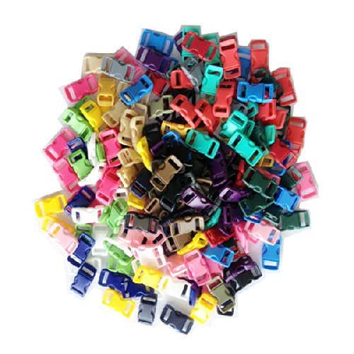 Buy Elife 200 PCS (20 Assorted Colors) 3/8 Contoured Side Release Plastic Buckles