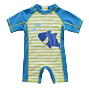 ATTRACO Little Boys Sun Protection Shirt Rashguard Swimsuit Blue 18m
