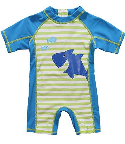ATTRACO Little Boys Sun Protection Shirt Rashguard Swimsuit Blue 18m