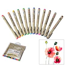 XCSOURCE 12 Colours Brush Pens Set Drawing Painting Watercolor Effect Pen Water Coloring Brush Soft Flexible Tips for Coloring Books Manga Comic Calligraphy AC789