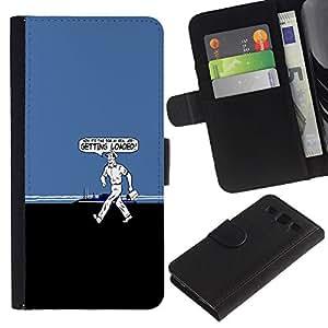 KLONGSHOP // Tirón de la caja Cartera de cuero con ranuras para tarjetas - Primeros Cargado divertido - Samsung Galaxy S3 III I9300 //