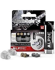 Alpine MusicSafe Music Ear Plugs – Musicians Ear Plugs for Noise Reduction – Concert Earplugs - 2 Noise Reducing High Fidelity Ear Plug Filter Sets - Hypoallergenic Reusable Earplugs, Transparent