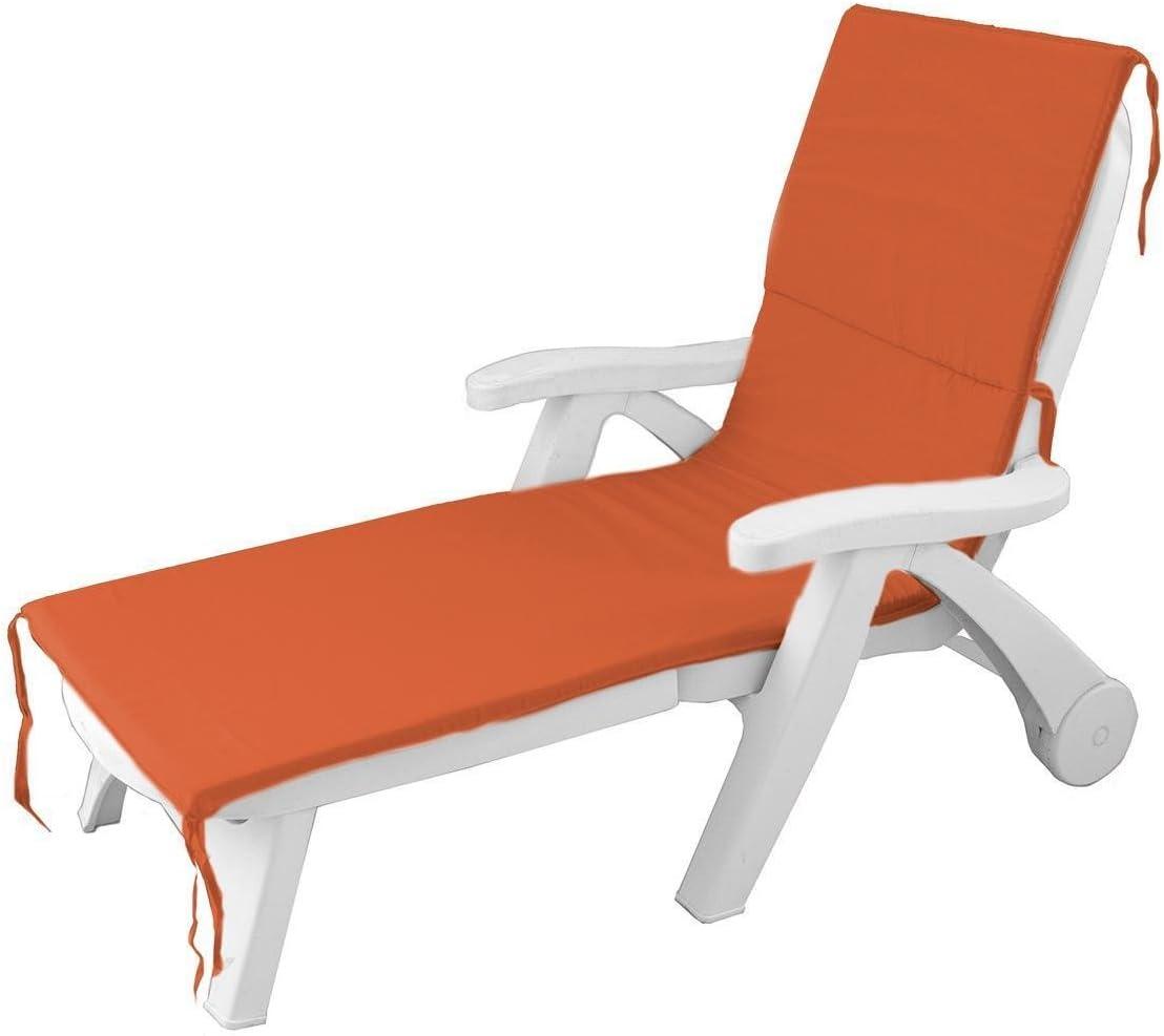 Morbidissimi Cuscino per Lettino Prendisole materassino da Esterno Unito 60x190 cm P499 Arancione