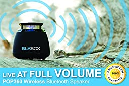 Wireless Bluetooth Speaker- BLKBOX POP360 Hands Free Bluetooth Speaker - for iPhones, iPads, Androids, Samsung and all Phones, Tablets, Computers (Bumpin\' Black)