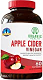 Organic Apple Cider Vinegar Capsules for Healthy Weight Loss & Diet | Pharmacist Approved 1250 mg | Cholesterol Support | by Organic Health