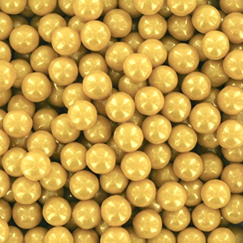 Approximately 6mm Round Beads (Gold High Gloss Pearl Candy Beads 6mm, 2 Pounds by Chef Alan Tetreault)