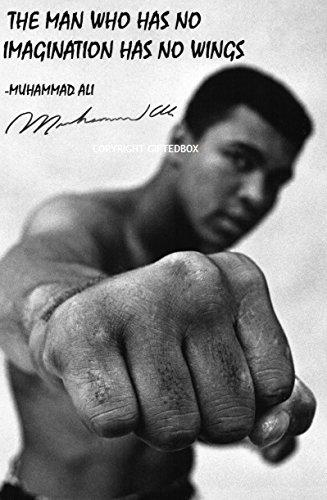 Giftedbox Limited Edition Signiert Von Muhammad Ali Zitat Foto Cert Boxen Gedrucktes Autogramm Inkl