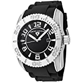 Swiss Legend Men's 20068-01 Commander Collection Stainless Steel Black Dial Watch, Watch Central