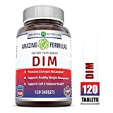 Amazing Formulas DIM Supplement - DIM (Diindolylmethane) Supports Healthy Estrogen Levels for Continued Good Health, Weight Management - Each Tablet Has 100 Mg of DIM (Diindolylmethane) Along Vitamin