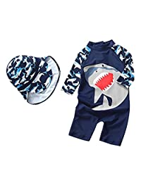 Yober Baby Boys Girls One Piece Swimwear Rash Guard UPF 50+