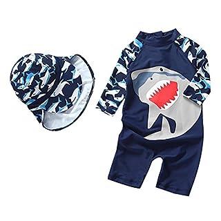 "Baby Boy Rash Guard Sun Protective Infant Toddler Swimwear(Navy, 9-18Months(Height:27.6""-31.5""/70-80cm))"