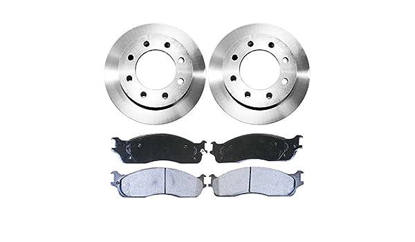 Auto Shack RSMK63014-63014-965-2-4 Front Brake Rotors and Semi Metallic Pads