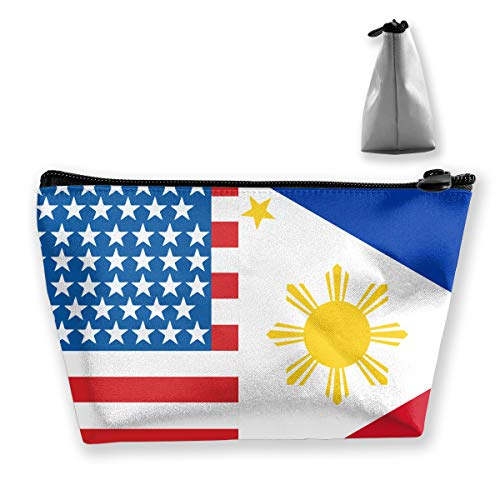 Trapezoid Storage Bag Buggy Bag Travel&Home Bag - American Philippines Flag Printed Cosmetic Bags Toiletry Bag Make-up Receive - Stylish (Best Breast Pump Philippines)