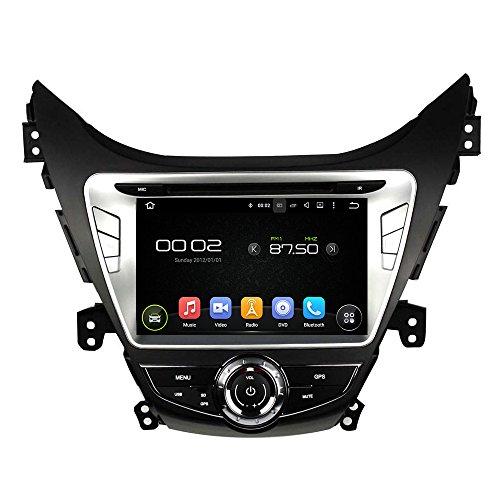 KUNFINE Android 8.0 Otca Core 4GB RAM Car DVD GPS Navigation Multimedia Player Car Stereo for Hyundai Elantra/Avante / IX35 2011 2012 2013 Steering Wheel Control 3G WiFi Bluetooth Free Map Update