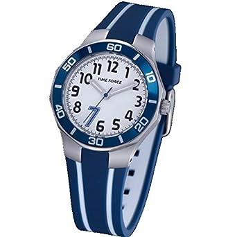 TIME FORCE Reloj De Pulsera Tf-3386B02 Cadete Acero 50M Cristiano Ronaldo AZUL: Amazon.es: Relojes