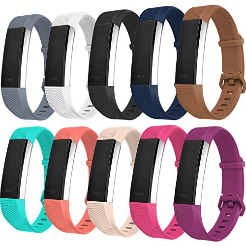 DDup Classic Replacement Bands for Fitbit Alta HR and Alta, Fitbit Accessory Wristbands With Metal Clasp, Small Large