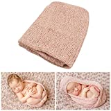 JLIKA Newborn Baby Photography Photo Prop Stretch Wrap - 28 Colors to Choose from (Dusty Pink)