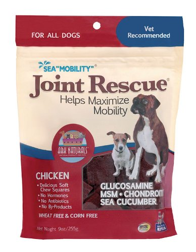 Ark Naturals Sea Mobility Chicken Jerky for Dogs, 9-Ounce Pouches (Pack of (Dog Sea Mobility)