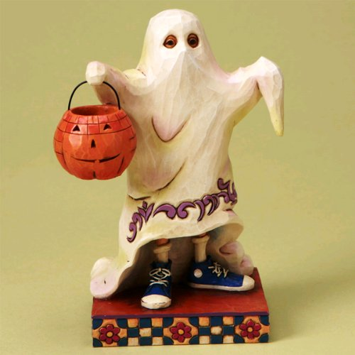 Jim Shore Halloween Trick or Treat Smell My Feet - Halloween Ghost Costume Figurine