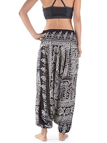 Forgotten Aztec Black Pantaloni Donna Tribes rAwfq0xAP