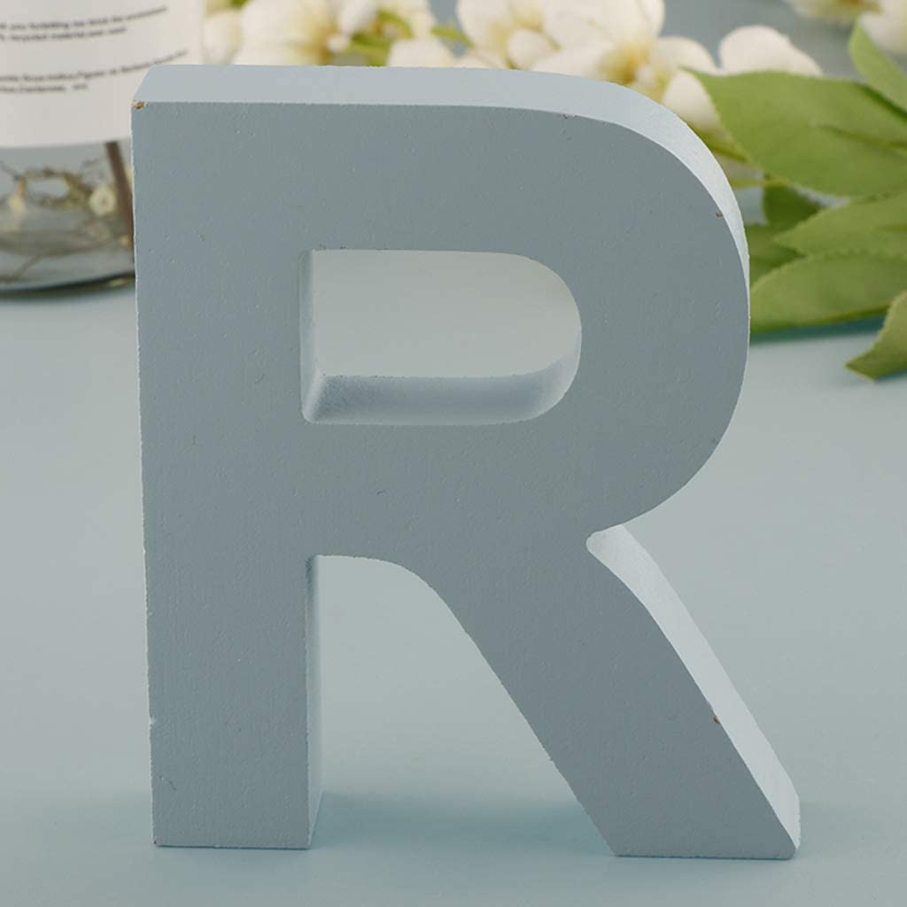 Fityle 1 pcs DIY Wooden House Decoration Wood Letter 26 English Alphabet Number DIY Wedding Decoration Crafts Ornaments Crafts S