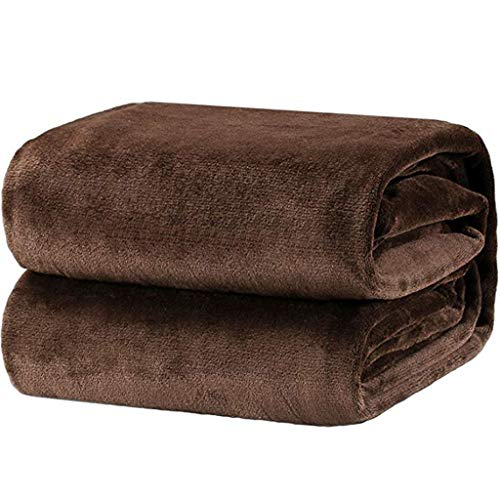 iYBUIA Super Soft Warm Solid Color Warm Micro Plush Flannel Bath Towel Fleece Blanket Throw Rug Sofa Bedding 230230 Coffee