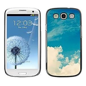 FECELL CITY // Duro Aluminio Pegatina PC Caso decorativo Funda Carcasa de Protección para Samsung Galaxy S3 I9300 // White Clouds Nature Sky God